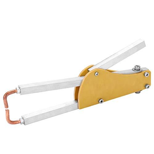 KKmoon - Mini soldador de punto ajustable a presión para soldaduras epoxi, placa de acero de 1 + 1 mm