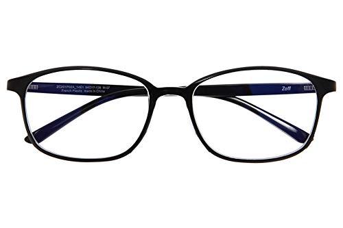 ウェリントン型 PCメガネ|Zoff PC REGULAR TYPE(ブルーライトカット率約35%)|ゾフ PC 透明レンズ パソコン用メガネ PCめがね PC眼鏡 メンズ レディース おしゃれ【ZC201P02_14E1 ZC201P02-14E1 ブラック】【54□17-138】