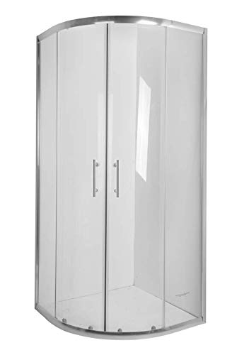 BADLAND Duschkabine Duschabtrennung Transparentes Glas 90x90 180cm halbrund