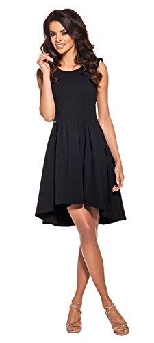 Lemoniade Damen Sommerkleid mit ausgefallenem Schnitt Made in EU, Modell 1 Schwarz, Gr. M (38)