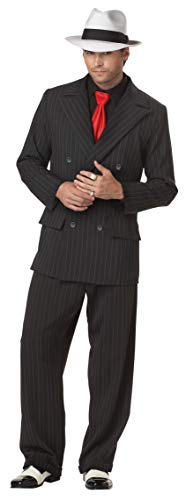 Mens Mob Boss Costume X-Large Black
