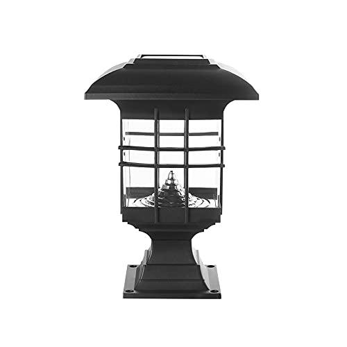 SDFDSSR Lámpara Solar para césped de Piso Patio de Ahorro de energía Linterna de Pilar Exterior IP65 Luz de Poste Exterior Impermeable Luz de Columna de Control de luz Inteligente Luces de Tapa