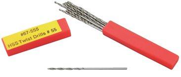 10 Pack High Speed Steel Twist Drill #80, 0.014 inch diam.