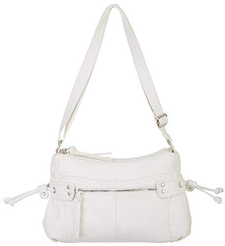 Bueno California East West Crossbody Handbag One Size White