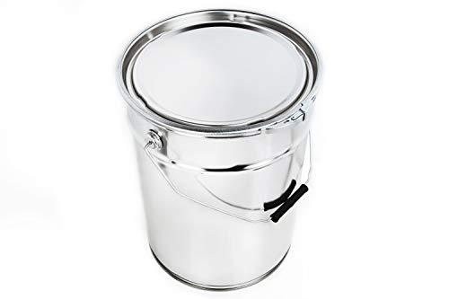 Blechdose mit Deckel Weißblech-dose Leerdose Lackdosen Metallbehälter Dosen Autolack Farbe, Anzahl:1, Größe:20 L