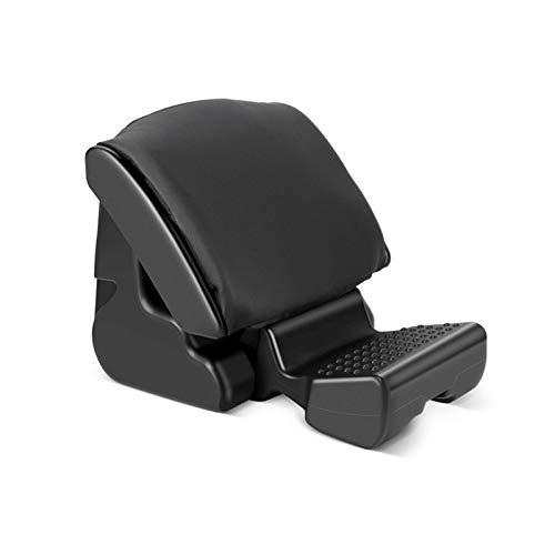 Echaprey Adjustable Footrest Ottoman Under Desk Ergonomic Foldable Home Office Chair Car Footrest with Massagers and 3 Functional Mode Black