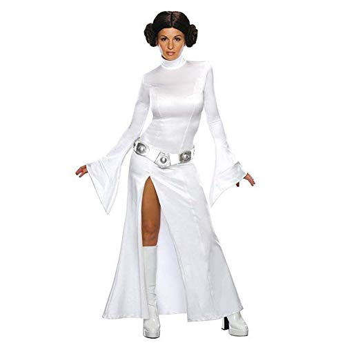 CAGYMJ Cosplay Dameshalloween Jurk, Geschikt voor Volwassen Vrouwelijke Sterrenoorlogen Wit Lange Zijdelings Split Rok, Pasen Kostuum Party Game Uniform Kostuum