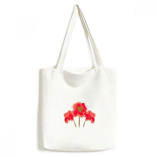 DIYthinker bloemen schilderij plant klaprozen milieuvriendelijke handtas, boodschappentas ambachtelijke wasbaar