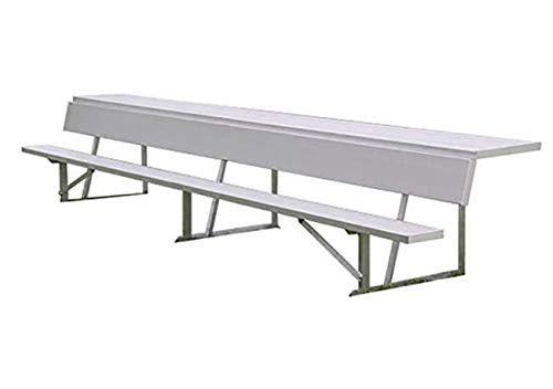 Smart Group Aluminiumblecher mit Rückenlehne und Ablage für Scorer (5/10-Sitzer), 2,25 m