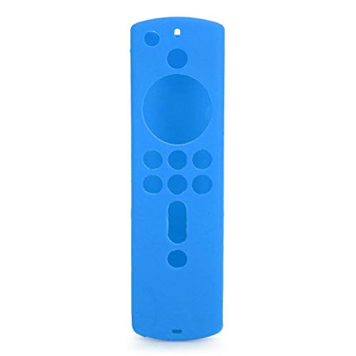 Shipenophy Funda Protectora de Silicona Cubierta de Control Remoto Se Puede Limpiar a Prueba de Polvo Diseño gráfico Protección anticaídas para FireTV 4K Control Remoto de 5.9 Pulgadas(Blue)