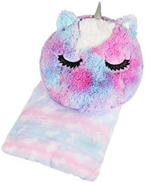 LOVE2DESIGN Unicorn Pillow Plush Throw Blanket Set for Kids Butter Soft Unicorn Tie Dye Girls product image