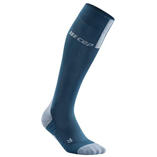 CEP – Run Socks 3.0 für Damen | Kompressionsstrumpf mit präzisem Druckverlauf in blau/grau | Größe II - 2