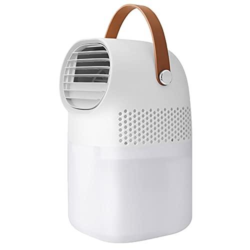 HJUIK Acondicionador de Aire Personal Mini Ventilador de Refrigeración por Aire 3 Velocidades Enfriador de Nebulización Humidificador Multifunción (Color : White)