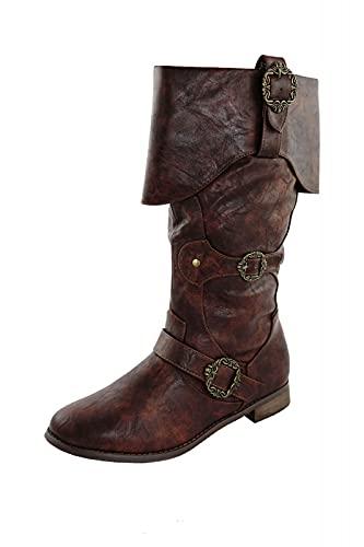 Piratenstiefel Mittelalter Stiefel Braun Schuhgröße 44