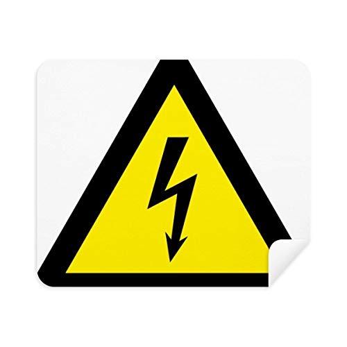 DIYthinker Símbolo de Aviso Negro Amarillo Descarga eléctrica Triángulo de la Pantalla...