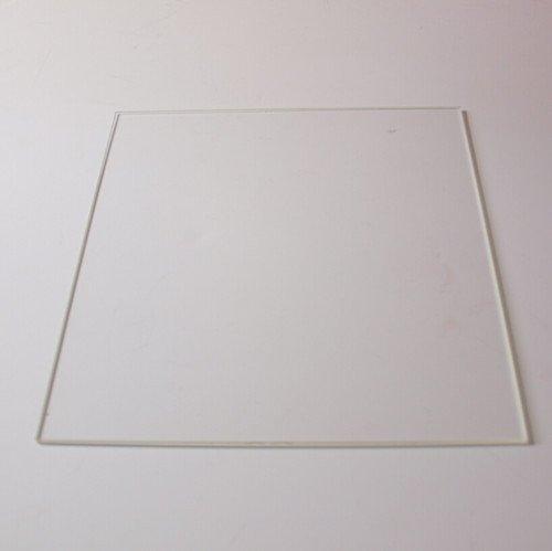 Plate 3D in vetro borosilicato per piano di appoggio in vetro temperato (255 x 255 x 3 mm)
