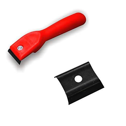 DEWEPRO Farbkratzer - Farbschaber - Fensterschaber - Schaber - Lackschaber inkl. 1 St. austauschbarer Ersatzklinge - Klingenbreite: 40mm
