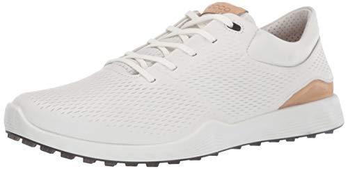 ECCO Women's S-Lite Golf Shoe, White Yak Leather, 9-9.5