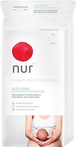 Compresas ecológicas Nur Farma Postparto. 10 uds.