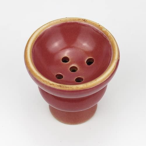 JSG Cazoleta De Ceramica Para Cachimba, Shisha Cazoleta Premium Barro Esmaltado, Tamaño Estandar (Rojo)