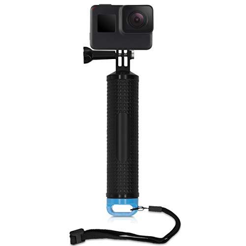 kwmobile Griff kompatibel mit GoPro Hero 7/6 / 5/4 / 3 - schwimmt im Wasser - 18 x 3,5cm - Schwimmgriff mit Handschlaufe