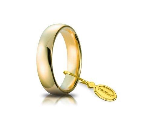 Unoaerre - Fede Nuziale 10 grammi Oro giallo Mantovana Classica Misura: 9