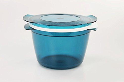 TUPPERWARE Mikrowelle Microcook 2,25L türkis Cook Microplus rund K39 Mikro Micro