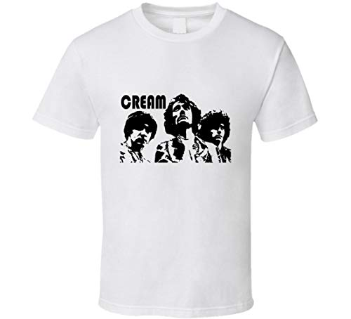 Cream t-Shirt Eric Clapton Jack Bruce Ginger Baker Retro Rock and roll Cult Classic