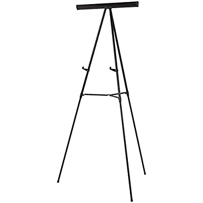 AmazonBasics Presentation Display Easel Stand, Adjustable Height Telescope Tripod, Black