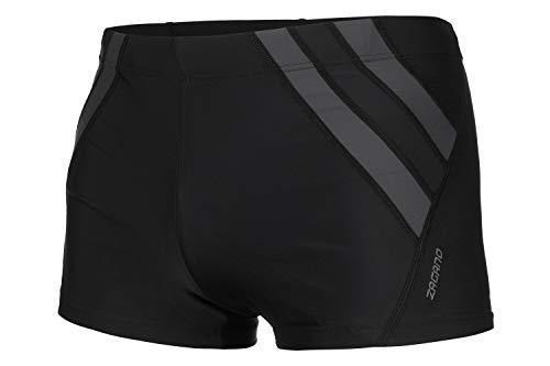 Zagano Badehose Herren Badehose, Enge Schwimmhose für Männer mit Zip Pocket und Kordelzug, Shorts M Schwarz, hergestellt in der EU