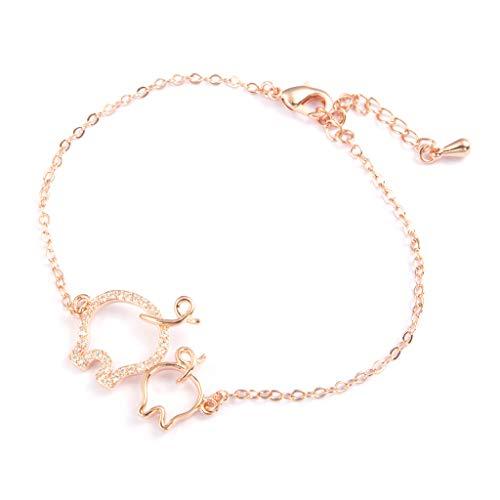 YANZHI Zodiac Pig Year Lucky Piglet Bracelet Pulsera de Transferencia para Todos
