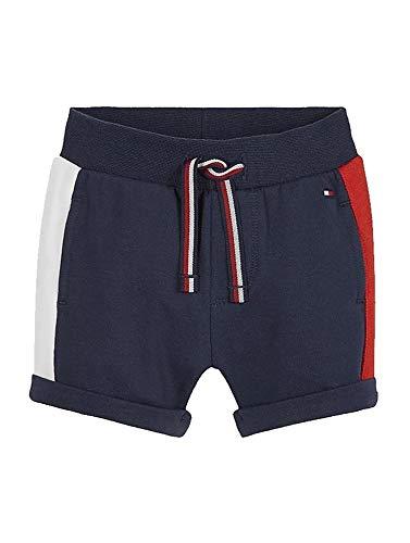 Tommy Hilfiger Baby SIDESTRIPE Sweatshorts Pantalones Cortos, Twilight Navy, 56 para Bebés