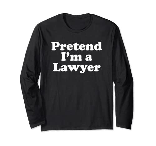 Disfraz divertido de Halloween de Finge I'm A Lawyer Manga Larga