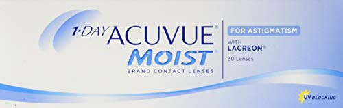 Acuvue 1-Day Moist For Astigmatism Tageslinsen weich, 30 Stück / BC 8.5 mm / DIA 14.5 mm / CYL -1.75 / ACHSE 40 / -0.5 Dioptrien