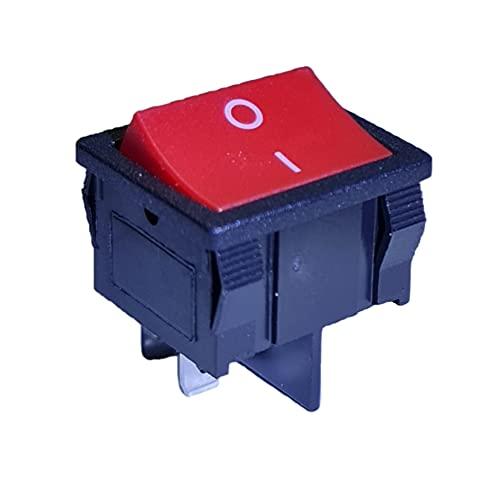 Interruptor basculante rojo de 4 pines, 6 A, 250 V CA, 24 x 21 mm