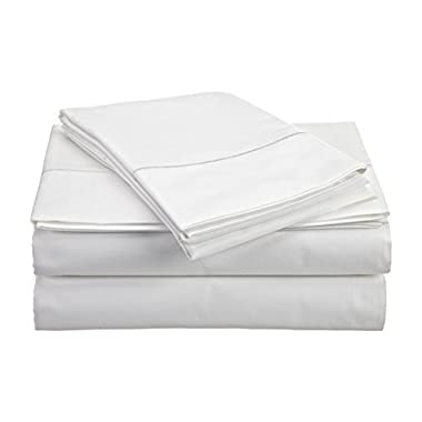 CHATEAU HOME COLLECTION 800-Thread-Count Egyptian Cotton Deep Pocket Sateen Weave King Sheet Set, White