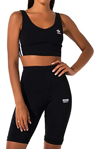adidas Originals Women's Crop Tank, black, Medium