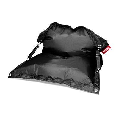 Fatboy Buggle-Up Beanbag | Le Pouf polyvalentI Banquette et Pouf en Un | 180 x 140 cm | Polyester I Résistant aux UV, à l'eau et aux salissures I Noir