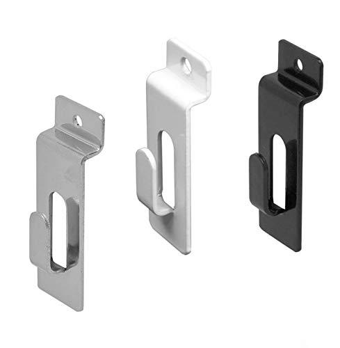 Slatwall Utility Notch Hook, Picture Hanger for Slatwall & Slat Grid, White, 10 Pack
