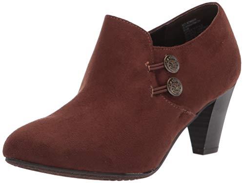 RIALTO Women's Smith Darkbrown Size 11W Ankle Boot, Dark Brown/Suedette, 11 Wide
