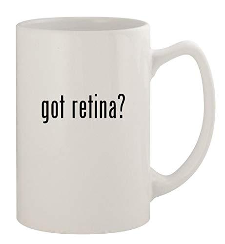 got retina? - 14oz Ceramic White Statesman Coffee Mug, White