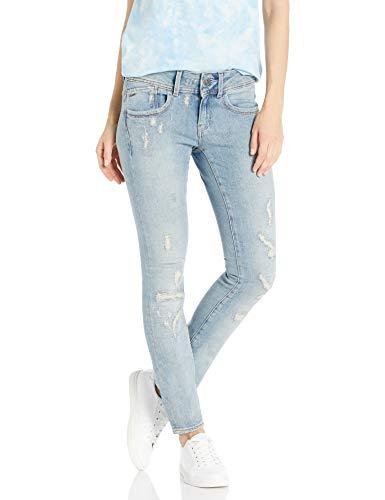 G-STAR RAW Damen Lynn Mid Waist Skinny Jeans, Blau (Lt Aged Restored 7889-7257), 28W / 32L