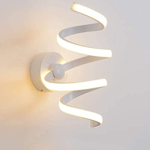 Applique murale LED lampe de chevet murale lampe enfants chambre salon lampe gradable interrupteur moderne courbe blanche bras de lumière cuisine pépinière mur éclairage déco lampe couloir 10 * 28cm