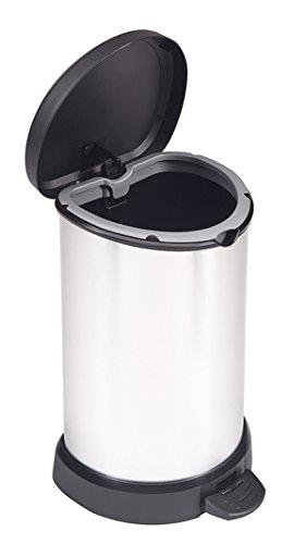 Curver Cubo decorado con pedal 20 L, Metal, 28.3x24.8x42.8 cm, 220959