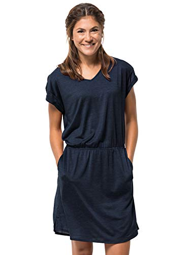 Jack Wolfskin Damen Coral Coast Kleid, Midnight Blue, XS