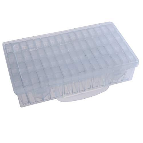 FinukGo 64 Gitter Diamond Painting Box Werkzeuge Perlen Behälter Harz Daimant Stickerei Stein Lagerung Zubehör Mosaik Convenience Box-Transparent