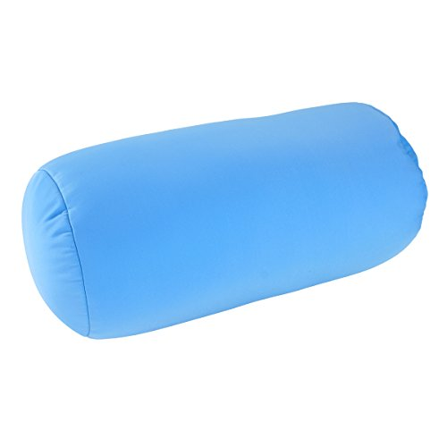 """Squishy Deluxe Tube Microbead Bolster Pillow with Stay-Cool Fill & Silky Removable Cover, Odorless & Flexible, Head, Neck & Back Support for Home & Away, Carrying Case, 13 x 6"""", Black"""
