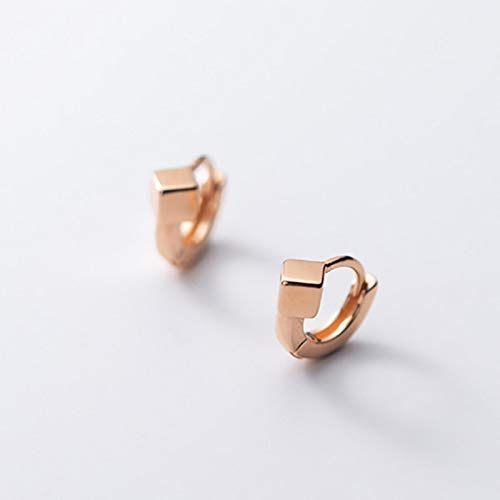 QIN 925 sterling silver fashion sliding square mini hoop earrings are beautiful for women's wedding birthday