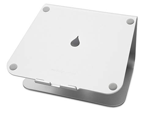 Rain Design 10032 mStand Laptop Stand, Silver (Patented), Ergonomic Aluminum Computer Riser for Office or Home Desk Setup, Compatible with MacBook Air Pro