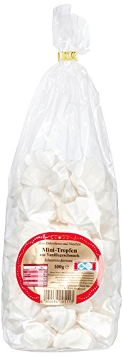Baiser Gebäck Mini Tropfen mit Vanillegeschmack 100 g, 6er Pack (6 x 100 g)